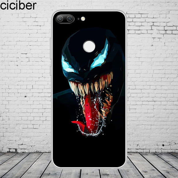 Ciciber DC Marvel Venom For Honor 10 9 8 Pro Lite X C Play Phone Case For Y 9 7 6 5 Prime Pro 2017 2018 2019 Coque Capa Soft TPU