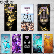 Ciciber Design Cute Plant Animals For Samsung Galaxy S 6 7 8 9 Edge Plus Phone Case TPU For Galaxy Note 4 5 8 9 Coque Fundas