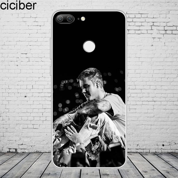 Ciciber Fashion Justin Bieber For Honor10 9 8 Pro Lite X C Play Phone Case For Y 9 7 6 5 Prime Pro 2017 2018 2019 Coque Capa TPU
