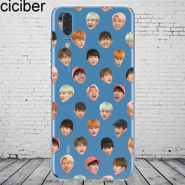 Ciciber Kpop BTS For Mate 20 10 9 Lite Pro X 2017 Fundas For Huawei P 20 10 9 8 Pro Lite Plus Phone Case Silicone TPU Coque