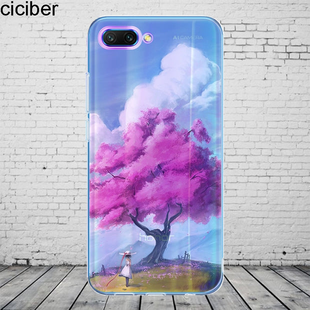 Ciciber Landscape Cover For Honor 10 9 8 Pro Lite X C Play Phone Case For Y 9 7 6 5 Prime Pro 2017 2018 2019 Coque Silicone TPU