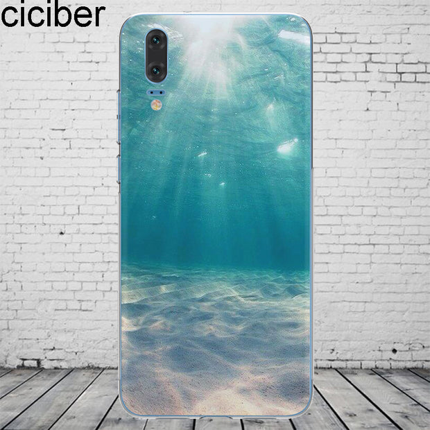 Ciciber Landscape For Mate20 10 9 Lite Pro X 2017 Fundas For Huawei P 20 10 9 8 Pro Lite Plus Phone Case Soft Silicone TPU Coque
