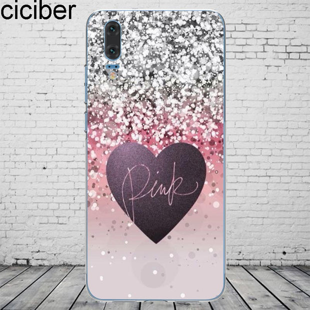 Ciciber PINK VS Victoria For Mate 20 10 9 Lite Pro X 2017 For Huawei P 20 10 9 8 Pro Lite Plus Phone Case Silicone TPU Fundas