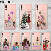 Ciciber Woman Girl For Honor 10 9 8 Pro Lite X C Play 7A Phone Case For Y 9 7 6 5 Prime Pro 2017 2018 2019 Coque Silicone TPU