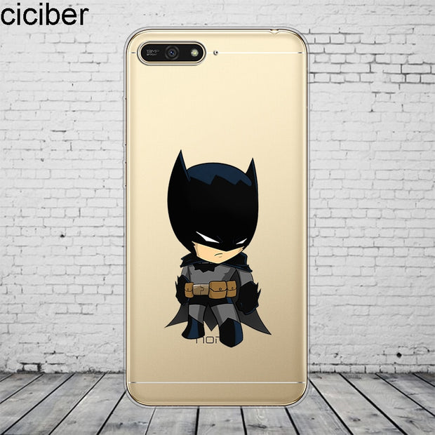CiciberDC Marvel For Honor 10 9 8 Pro Lite X C Play Phone Case For Y 9 7 6 5 Prime Pro 2017 2018 2019 Coque Silicone TPU Fundas