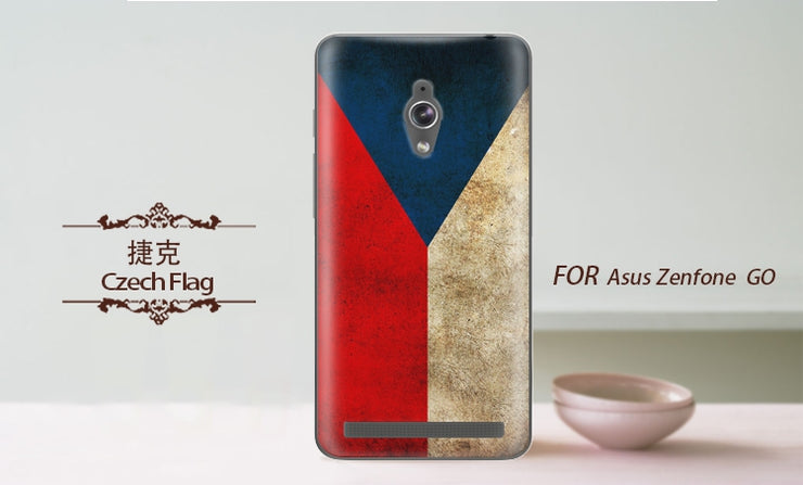 For Asus Zenfone Go ZC500TG Case Cover Ultra Thin TPU Soft National Flag Painted Phone Cases For Asus Zenfone Go ZC500TG