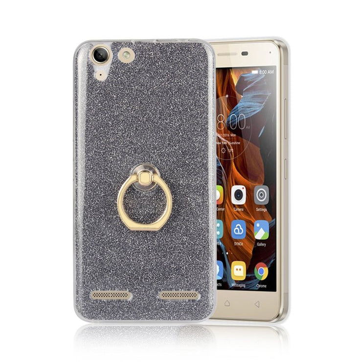 For Lenovo K5 Finger Grip Ring Holder Case For Vibe K5 Plus Lenovo A6020 A 6020 Back Cover Shiny Shell Coque Capa Hoesjes Etui