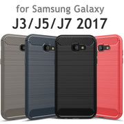 For Samsung J3 J5 J7 2017 Case US Pro Soft TPU Carbon Fiber Back Silicon For Galaxy J330 J530 J730 EU Armor J320 J520 J720 Cover