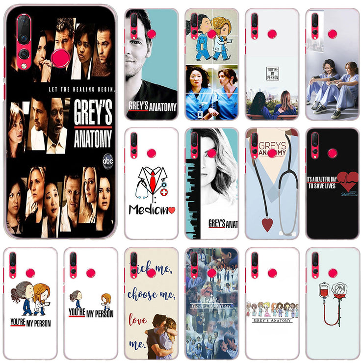 Grey's Anatomy Tv Show Phone Cases Cover For Huawei Nova 2i 3 3i 3e 4 Mate  10 20 Lite 20 Pro P20 Lite Hard PC Case Cover