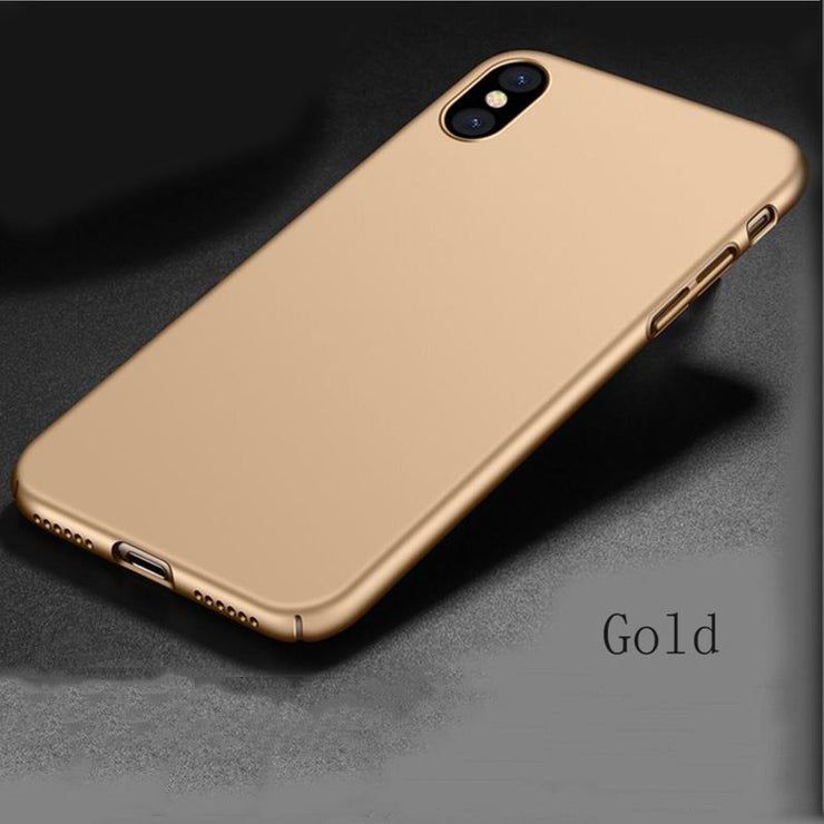 Hot Seling Ultra Thin Slim Shockproof Matte Hard Back Phone Case Cover For Phone XS Max XR XS 5s Se 6 6S 7 8 Plus X