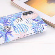 I8 Summer Tropical Plants Phone Case On For IPhone 8 8Plus Hard Case Cover Coque For IPhone 8 6 6S 7 Plus IPhone X 10 Cases Capa