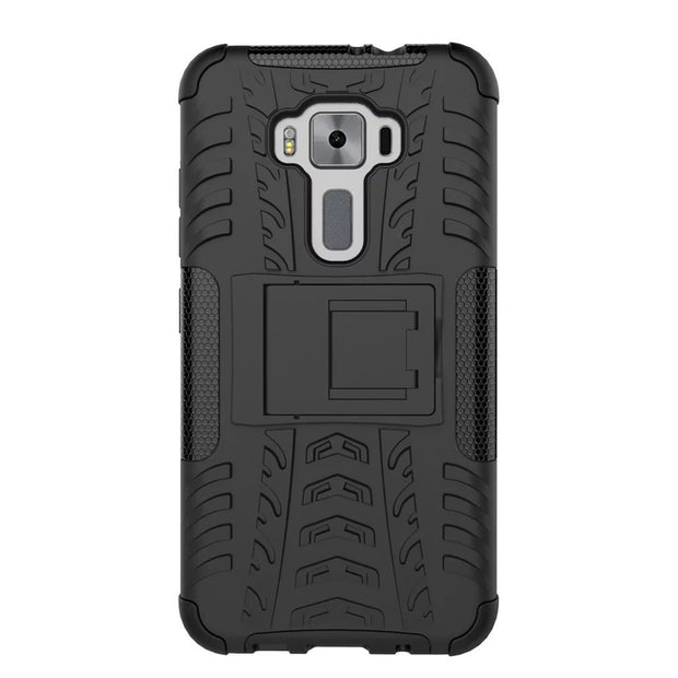 Iboann For ASUS Zenfone 3 ZE520KL ZE 520KL 5.2 Inch Cases Hard Cover Heavy Duty Armor Hybrid Rugged Rubber Silicone Stand Case
