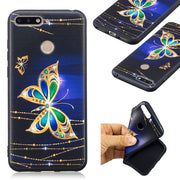 Loovedwj Back Cover For HUAWEI Honor 8C Case Black Soft TPU 3D Embossing Fashion Floral For HUAWEI Honor 7X 7A Pro 7C 6X 6C Case