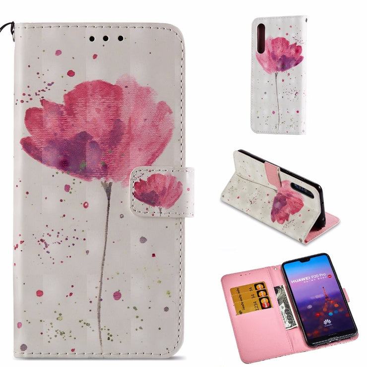 Maosenguoji 3D Painted Leather Case Mobile Phone Case For Huawei Honor Mate 10 P9 Y6 P20 Pro Lite Mini Plus Nova 3E P Smart 9i