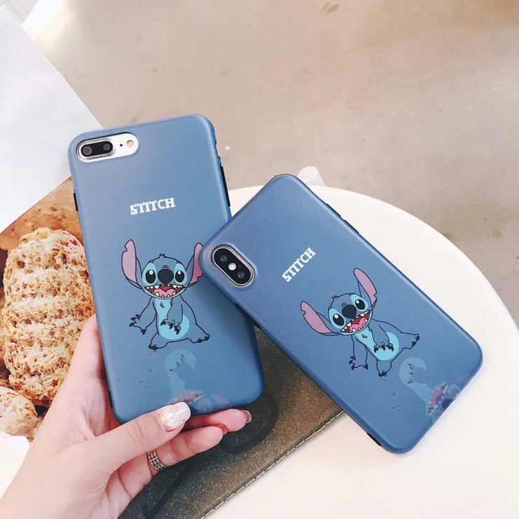 Maosenguoji Cute Cartoon Funny Animal Stitch Mobile Phone Case For Iphone 6 6s 6plus 7 7plus 8 8plus X XR XS MAX Fashion Case