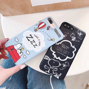 Maosenguoji Cute Cartoon Funny Animal Dog Soft Mobile Phone Case For Iphone 6 6s 6plus 7 7plus 8plus X 10 XR XS MAX Fashion Case