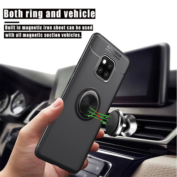 SFor Huawei Mate 20 Pro Case With Car Holder Silicone TPU Back Cover Accessories Coque Fundas For Huawei P20 Pro On Mate20 Lite