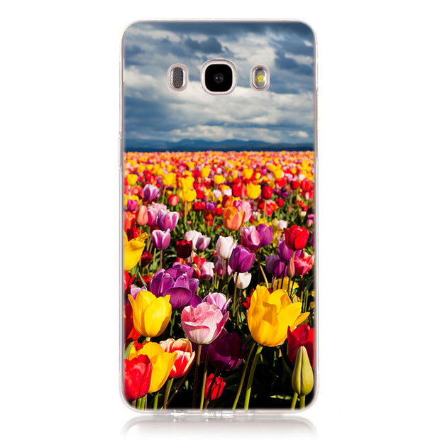 Sweet Tulip Flower Phone Case For Samsung Galaxy J2 J3 J4 J5 J6 J7 J8 2018 Soft Silicone Case For Galaxy J4 J6 Plus Cover