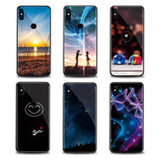 Xiomi Mi A1 Case Stained Tempered Glass Protection Back Shell For Xiaomi Mi 6 5x 6x A2 Note 3 Mi6 Mi Mix 2 2S Mobile Phone Case