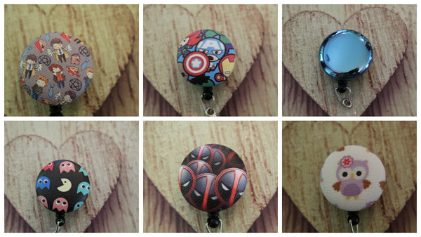 Novelty Vinyl Covered Retractable Badge Reels