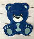 Little Bear Vinyl Zipper Pouch