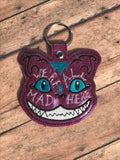 "Cheshire Cat ""We're All Mad Here"" Keychain"