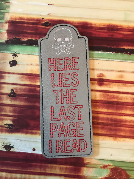 Tombstone Bookmark