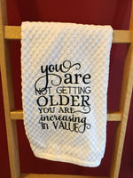 Increasing In Value Kitchen Towel