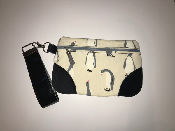 Penguin Clutch Handbag with wrist strap