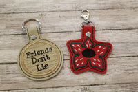 Demogorgon and Friends Don't Lie Keychains