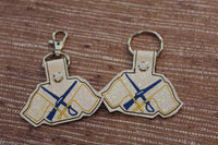 Marching Band Color Guard Keychain