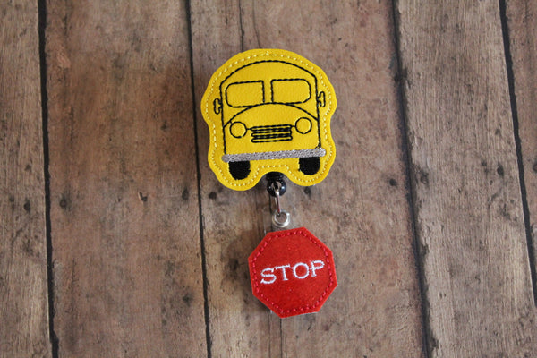 Bus Driver Badge Reel Holder