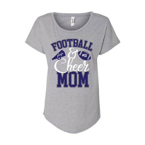 Football and Cheer Mom Tee