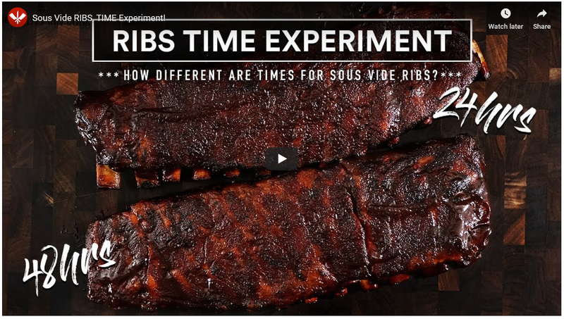 Sous Vide Everything - Ribs Time Experiment
