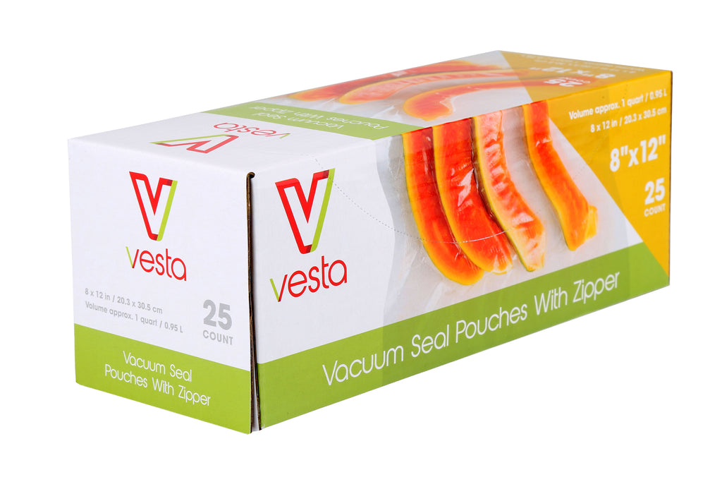 Vesta Zipper Top Sous Vide Pouches