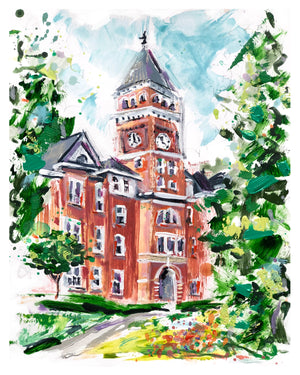 "Clemson Tillman Hall Study II | 11"" x 14"" on Paper"
