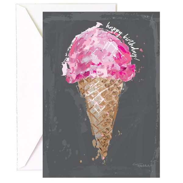 Ice Cream Cone Birthday - Single Card