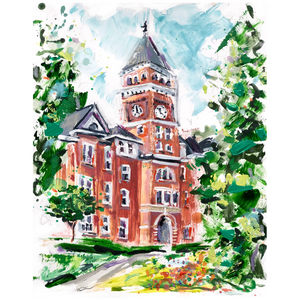 Limited Edition Matted Print - Clemson Tillman Hall