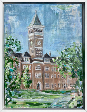 "Framed Clemson Tillman Hall | 9"" x 12"""