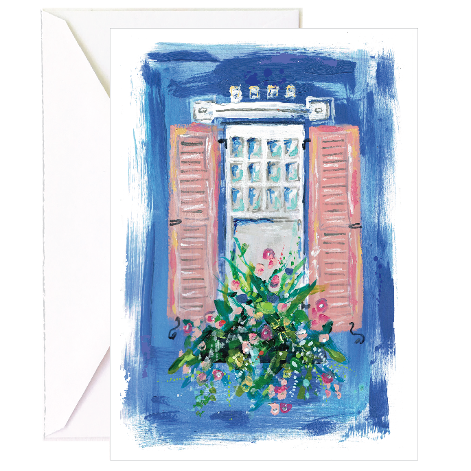 Cobalt Blue Window Notecard - 5 Pack