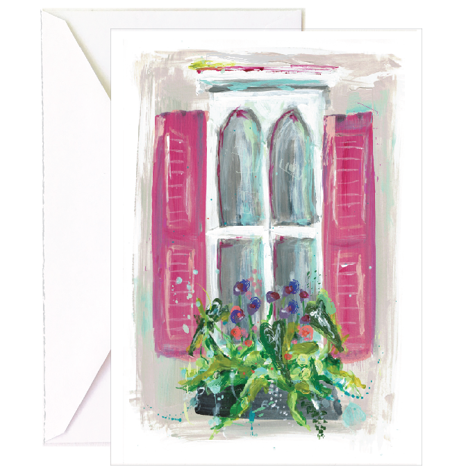Cream Window Notecard - 5 Pack