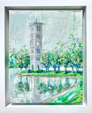 "Framed Furman Belltower | 8"" x 10"""