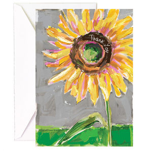 Sunflower Thank You - Single Card