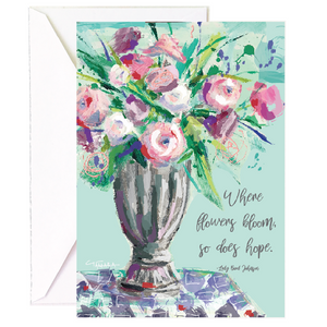 Flowers Bloom Hope Single Card