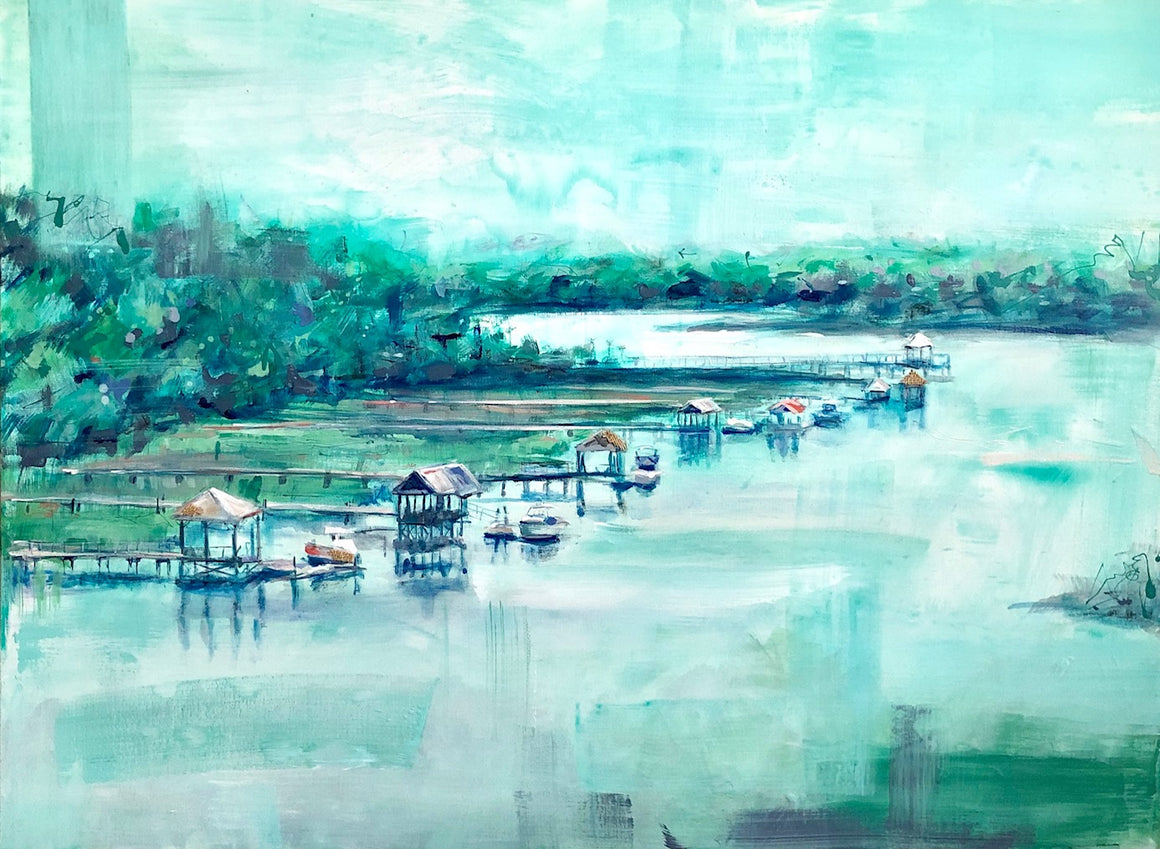 "Watercolored Haven | 36"" x 48"""