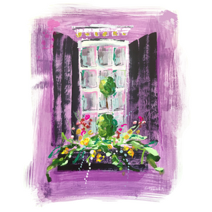 "Purple Window on Paper | 9"" x 12"""