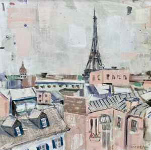 Rooftops Over Paris  I 20x20