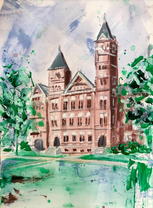 "Auburn's Samford Hall | 11"" x 14"" on Paper"
