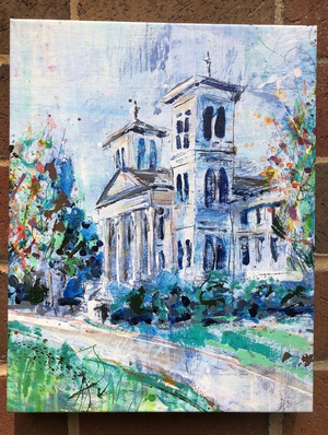 Wofford Old Main Building Print on Canvas