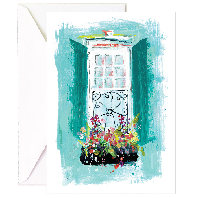 Teal Window Notecard - 5 Pack